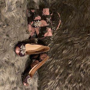 Matching shoe and handbag set